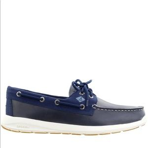 SPERRY MENS NAVY BOAT SHOES WITH MEMORY FOAM 10.5M